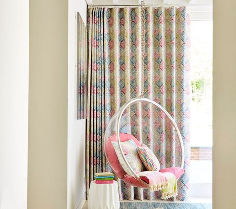 Quadro Festival Multi Colour wave curtains in Living Room