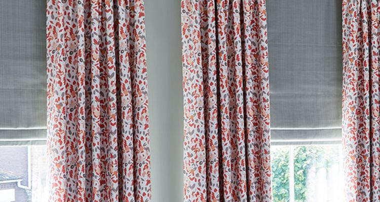 Blossom Persimmon curtains