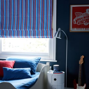 Lollipop red roman blind