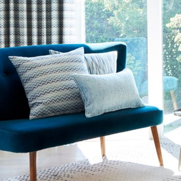 Green blue cushion collection