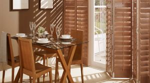 Tracked-dining-room-shutters