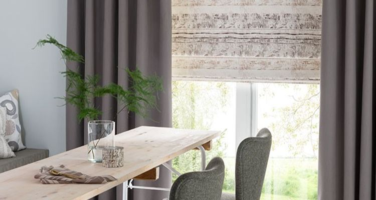 Grey Curtains - Tetbury Charcoal Grey Made to Measure Curtain Fabric