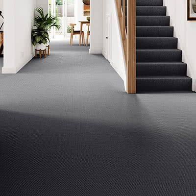Black-Grey-carpet-hallway-stairs-stratford-stadium-anthracite