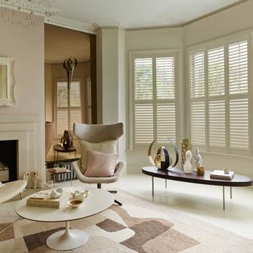 Cream Full Height Shutters - Made to Measure Cream Shutters in the Living Room