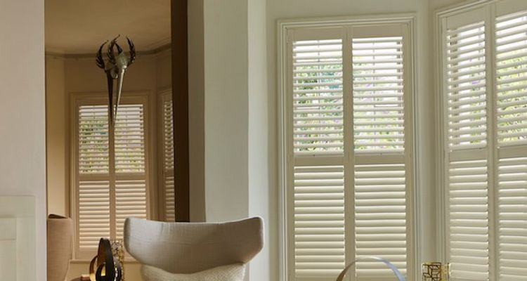 Cream Shutters Made to Measure Cream Shutters in the Living Room