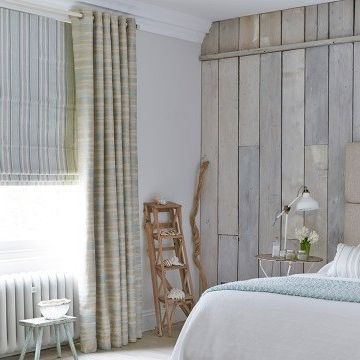 Eyelet Curtains in the Bedroom - Made to Measure Weathered Eyelet Curtains