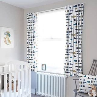 Childrens Curtains - Made to Measure Little Fish Marine Kids Curtains in a Nursery