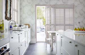 white-kitchen-patio doors- shutters