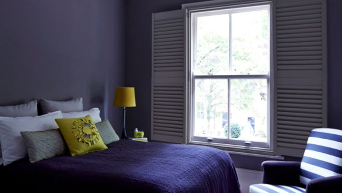 grey shutters-sash window