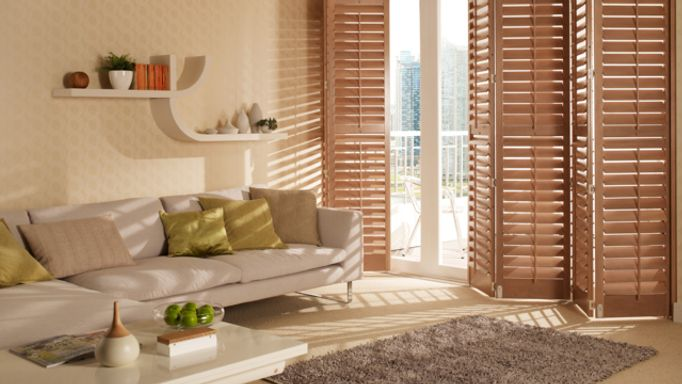 shutters for doors-brown-tracked