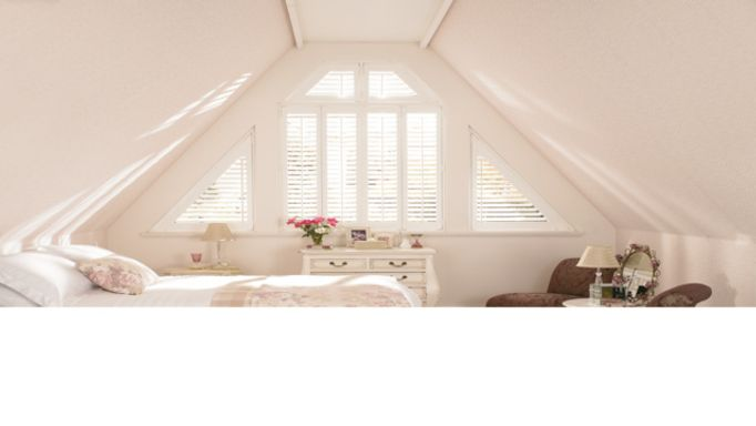 small window shutters-attic-shaped