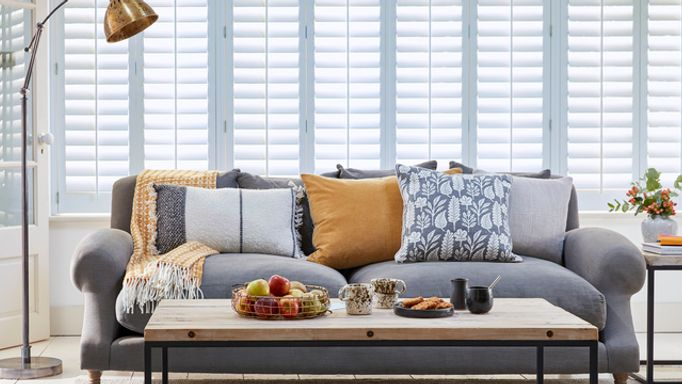 wide window shutters-living room