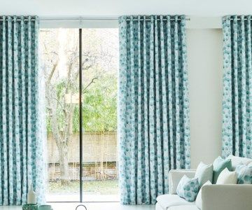 Eyelet Curtains - Honesty Mist Blue Eyelet Made to Measure Curtains