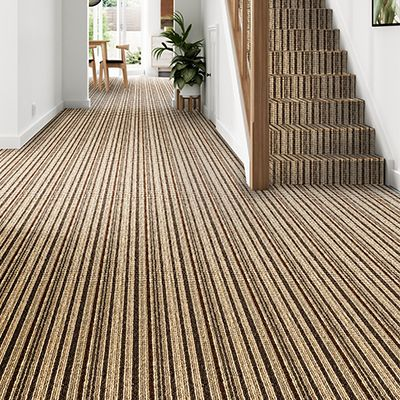 Brown-striped-carpet-stair-hallway-Blenheim-Stripe-Hazel
