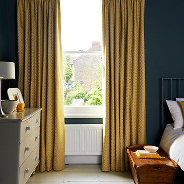 Yellow Curtains in the bedroom - Eclipse Mimosa
