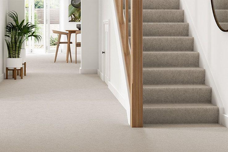 Grey Carpet Stair Belgravia_Twist_argent