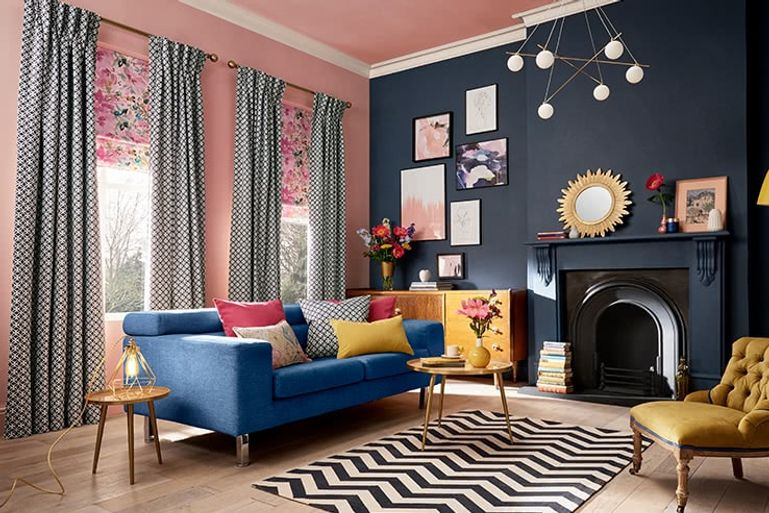 Blue-Floral-Curtains-Living-room_ECLIPSE_DENIM
