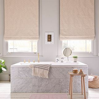 Echo Shell Roman blind