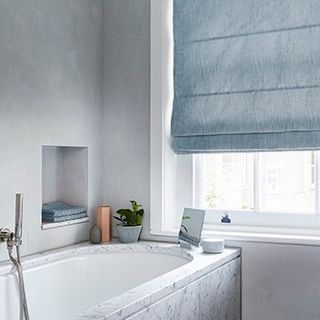 Mineral Morning Breeze Roman blind