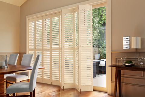 Tracked Full Height Silk White Shutter