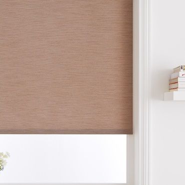 light brown roller blind close up
