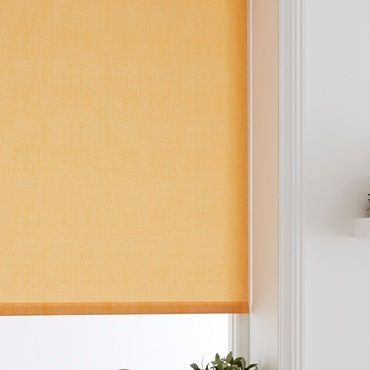 orange roller blinds close up