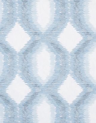 Brindle Denim swatch with a  repeating blue and white oval pattern