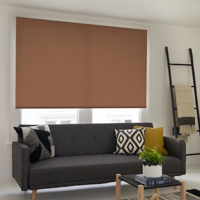 Acacia coffee roller blind