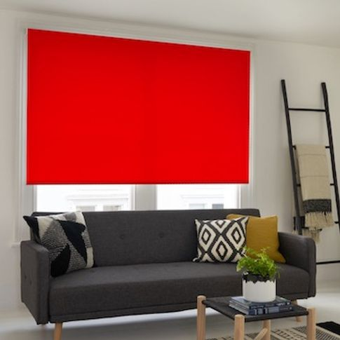 Cordova red roller blind