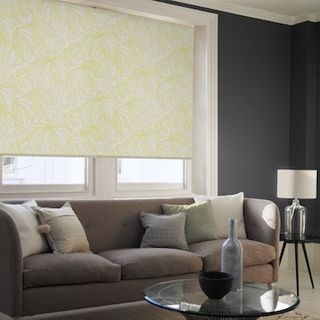Greenery tropical roller blind