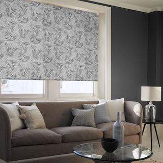Hothouse black roller blind