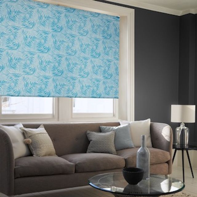 Hothouse iberian blue roller blind