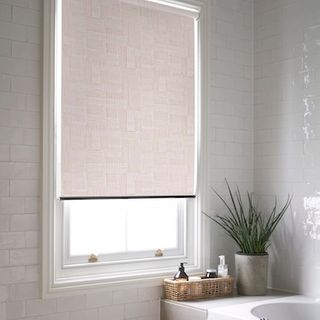 Impress crystal pink roller blind