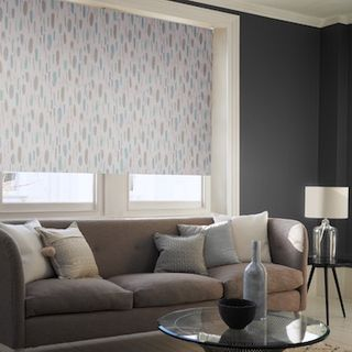 Painterly duck egg roller blind