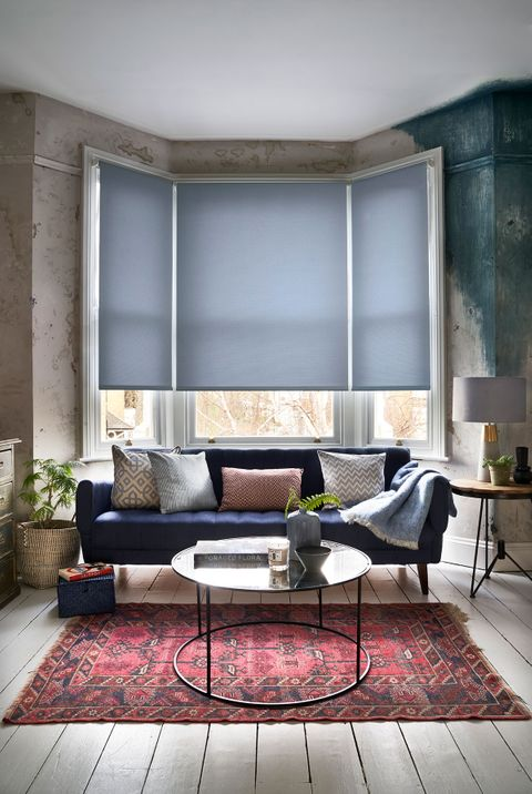 Roller Blind_Kilner Captain Blue_Living Room