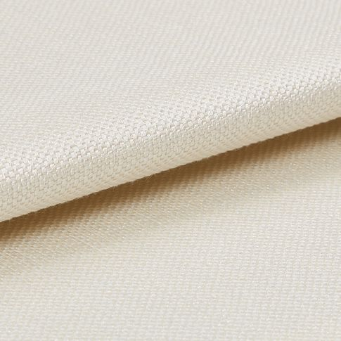 Clarence off white roman curtain fabric swatch