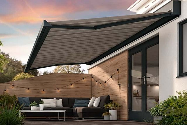 Landscape image of awning