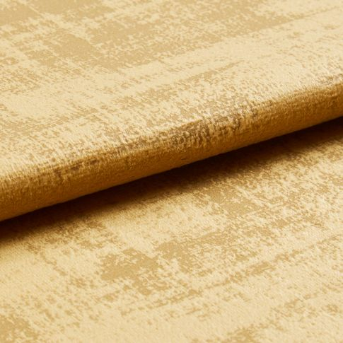 Folded swatch photography of a Fascination Ochre Roman Blind