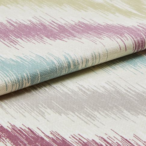 Folded swatch photography of a Souk Berry Haze Roman Blind