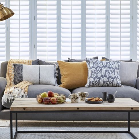 Element Grey Shutters in a living room