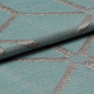 Nexus Teal Roman Blind and Curtain