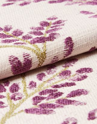 Delizia Violet Roman Blind and Curtain
