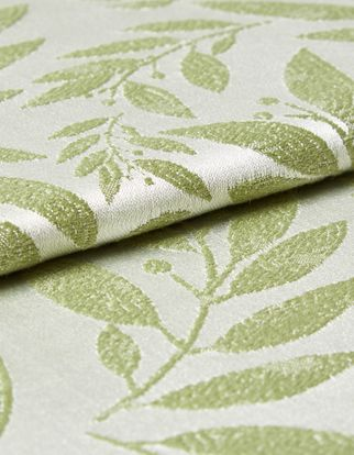 Folia Sage Roman Blind and Curtain
