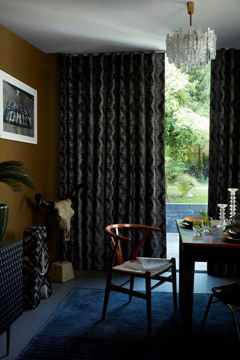 Cadillac Noir curtains in dining room