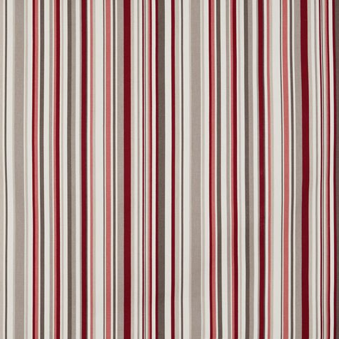 City cherry swatch with stripes of red, pink, white and beige