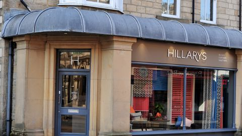 exterior of Hillarys blinds, curtains and shutters showroom in Harrogate