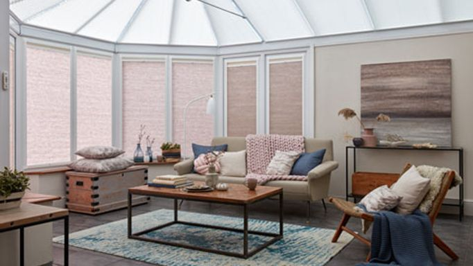 Conservatory with Day and Night transition blinds