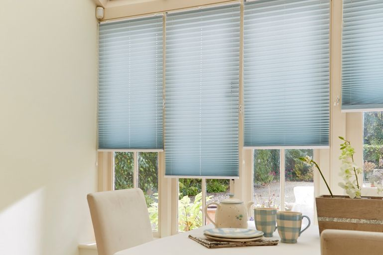 Oakhom Pleated side conservatory blinds