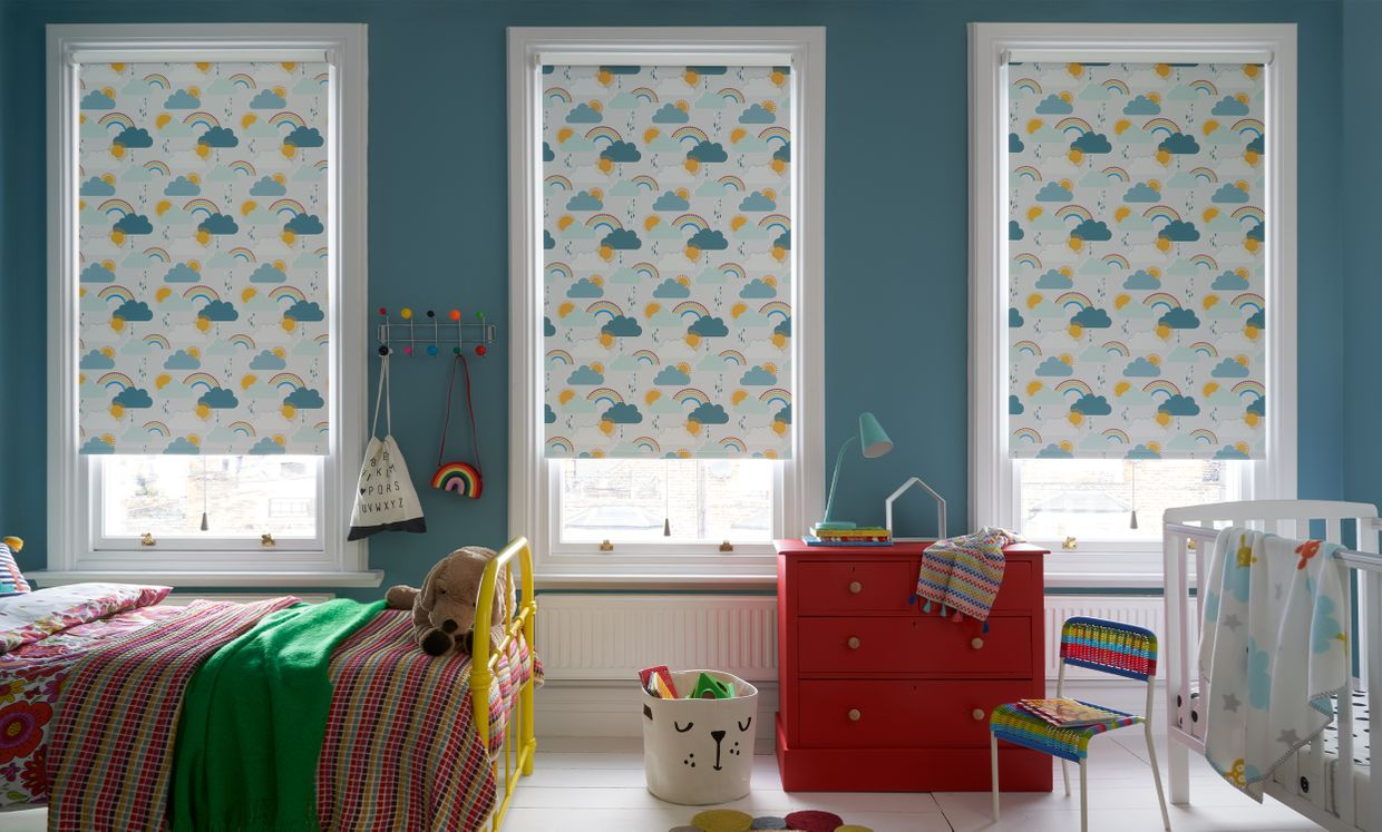 Rainbow Dreams Mineral childrens blind in bedroom