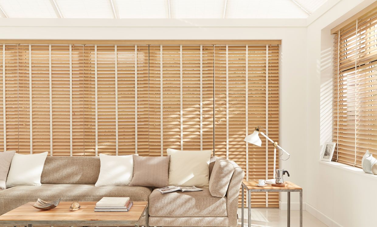 Scandinavian Beech Conservatory wooden blinds